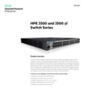 HPE 3500 and 3500 yl Switch Series data Sheet