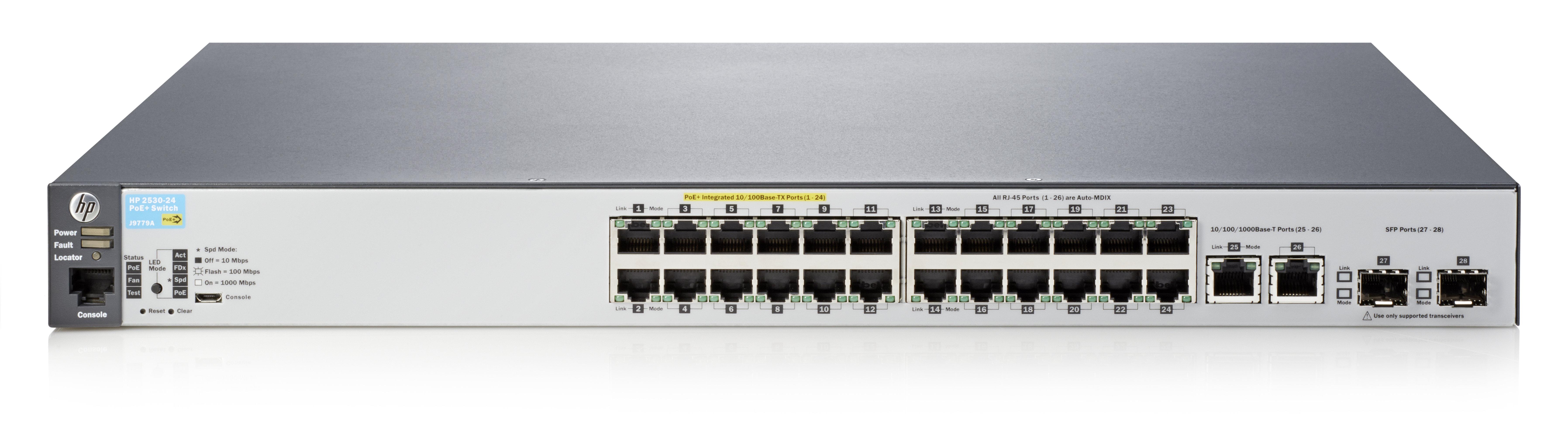 Aruba 2530-24-PoE+ - switch - 24 ports - Managed - rack-mountable