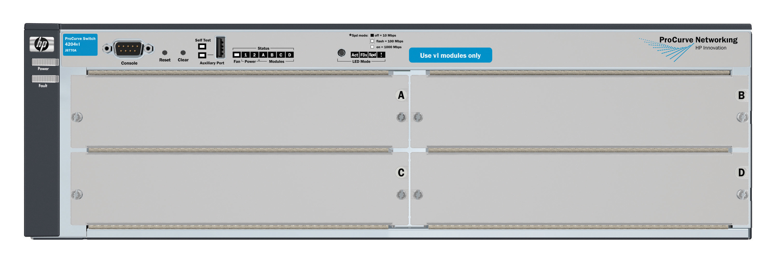 HPE 4204 vl Chassis - Switch | Product Details | shi com