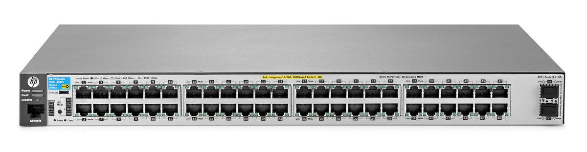 HPE Aruba 2530-48G-PoE+-2SFP+switch - 48 ports - Managed - rack-mountable