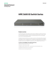 HPE 3600 EI Switch Series data sheet