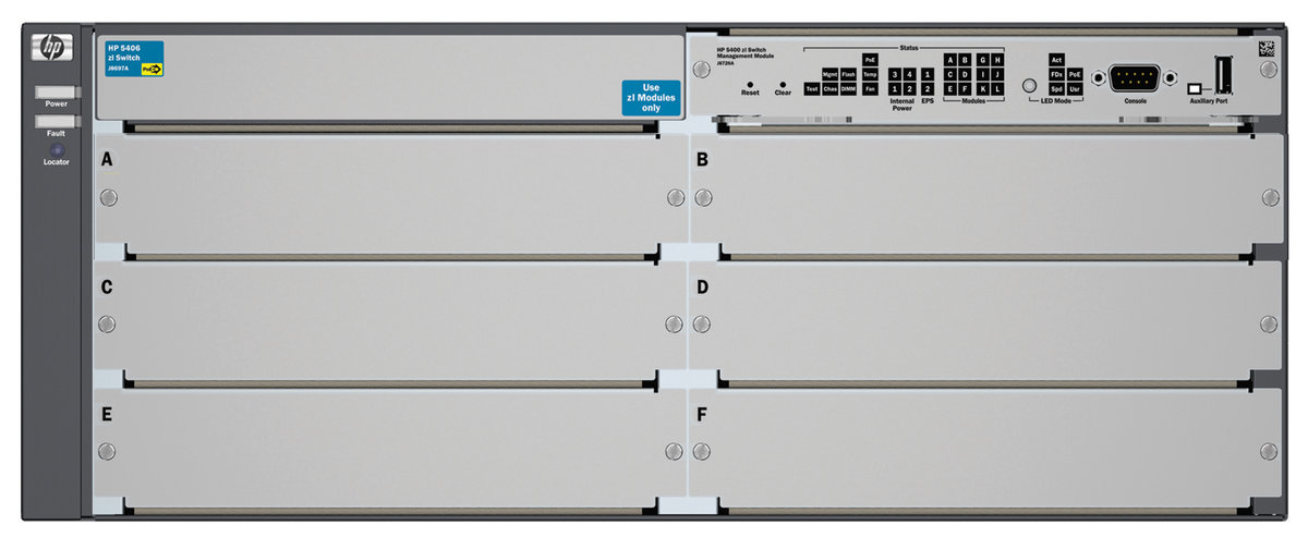 HPE 5406 zl - switch - managed - rack-mountable - with HP 5400 zl Switch  Premium License