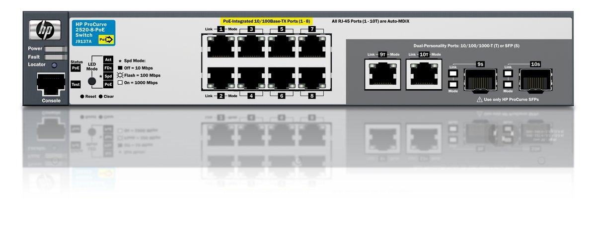 HP ProCurve SWITCH 2520-8 PoE