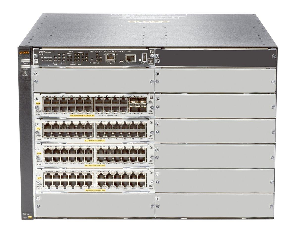 Switch 5412R 92GT PoE+ and 4-port SFP+ (No PSU) v3 zl2