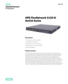 HPE FlexNetwork 5120 SI Switch Series data sheet
