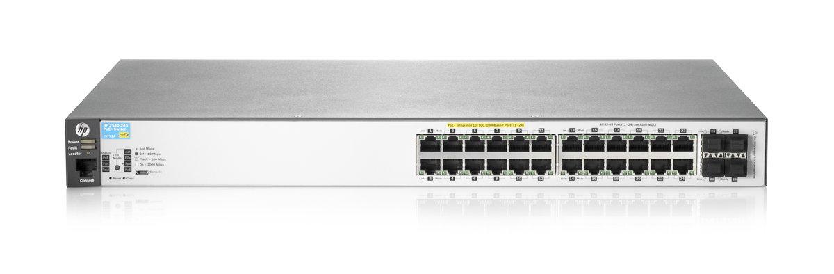 HPE Aruba 2530-24G-PoE+ switch - 24 ports - Managed - rack-mountable