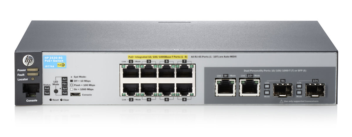 HPE 2530-8G-POE+ Switch