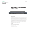 HPE 5500 EI TAA-compliant Switch Series data sheet