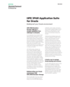 HPE 3PAR Application Suite for Oracle: Bulletproof your Oracle environment data sheet (English)
