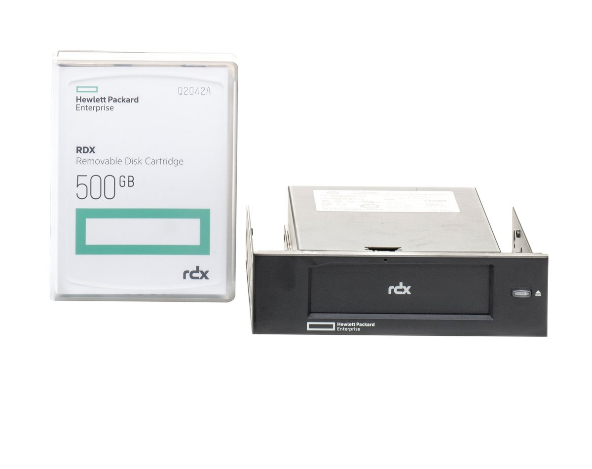 HPE RDX Removable Disk Backup System - RDX drive - SuperSpeed USB 3 0 -  internal - with 500 GB Cartridge