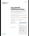 Using HPE RDX with Windows Backup