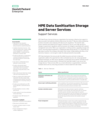 HPE Data Sanitization Storage and Server Services data sheet