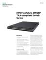 HPE FlexFabric 5900CP TAA-compliant Switch Series data sheet