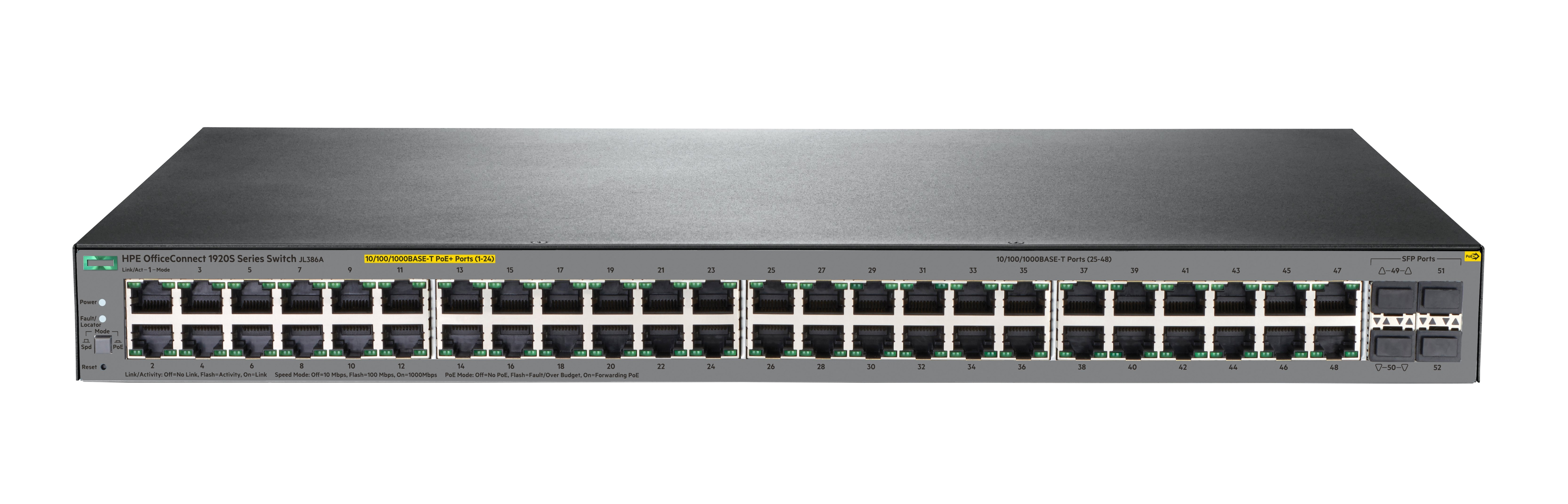 Hpe Officeconnect 1920s 48g 4sfp Ppoe 370w Switch 48