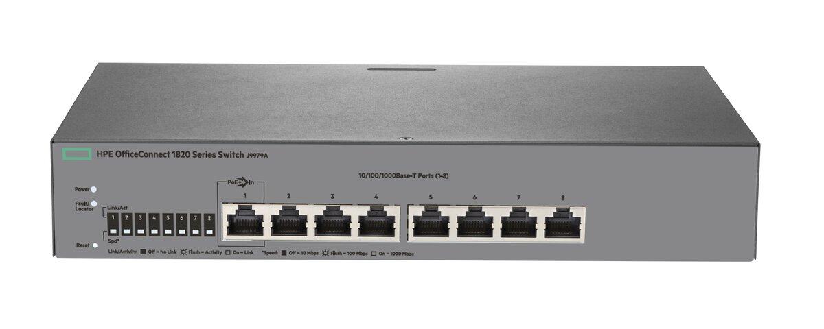 Switch 1820-8G, (8) RJ-45 autosensing 10/100/1000 ports