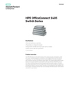 HPE OfficeConnect 1405 Switch Series - Data sheet