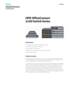 HPE OfficeConnect 1420 Switch Series data sheet