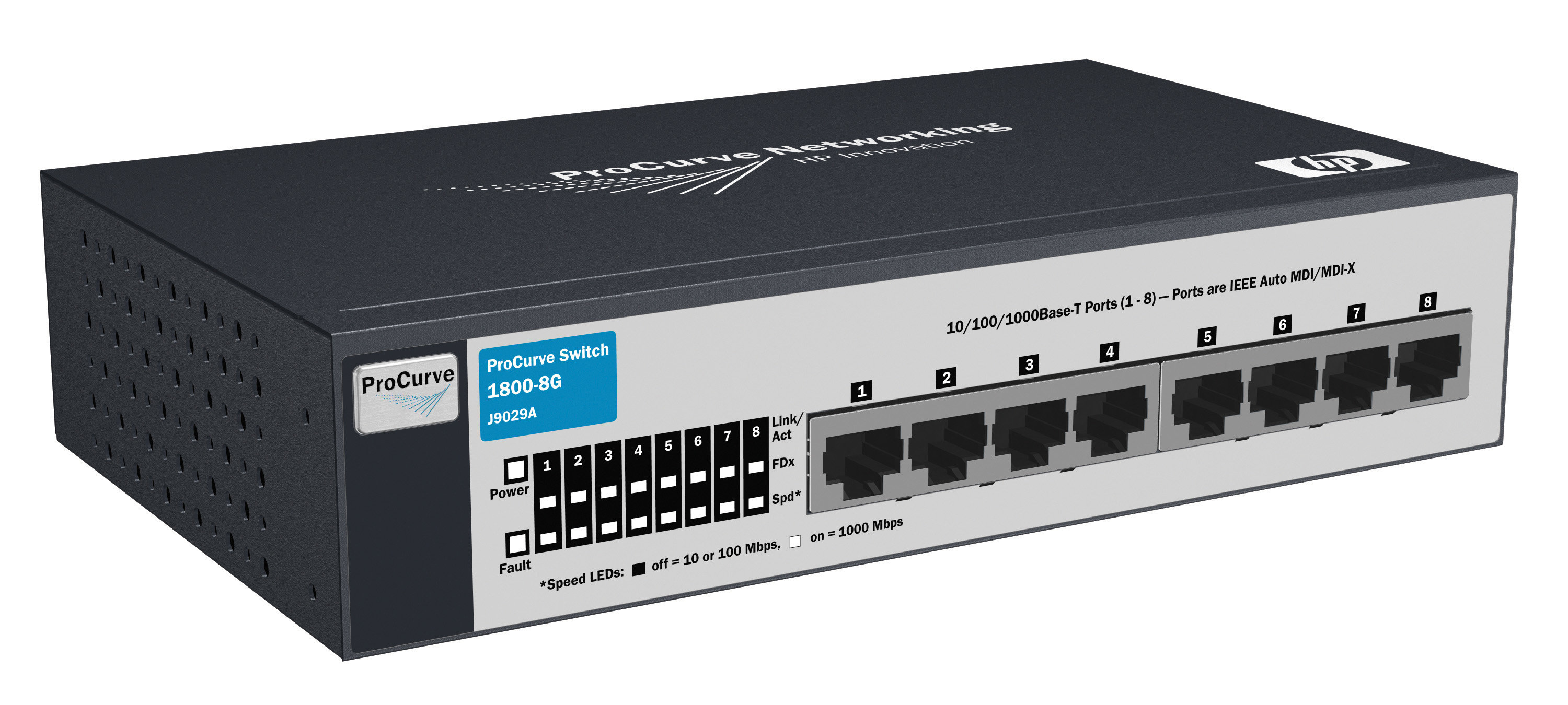 HP ProCurve Switch 1800-8G - switch - 8 ports