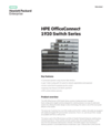 HPE OfficeConnect 1920 Switch Series data sheet