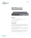 HPE OfficeConnect 1910 Switch Series data sheet