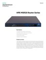 HPE MSR20 Router Series data sheet