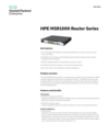HPE MSR1000 Router Series data sheet