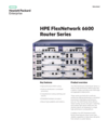 HPE FlexNetwork 6600 Router Series data sheet