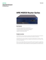 HPE MSR30 Router Series data sheet