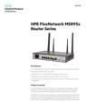HPE FlexNetwork MSR95x Router Series data sheet