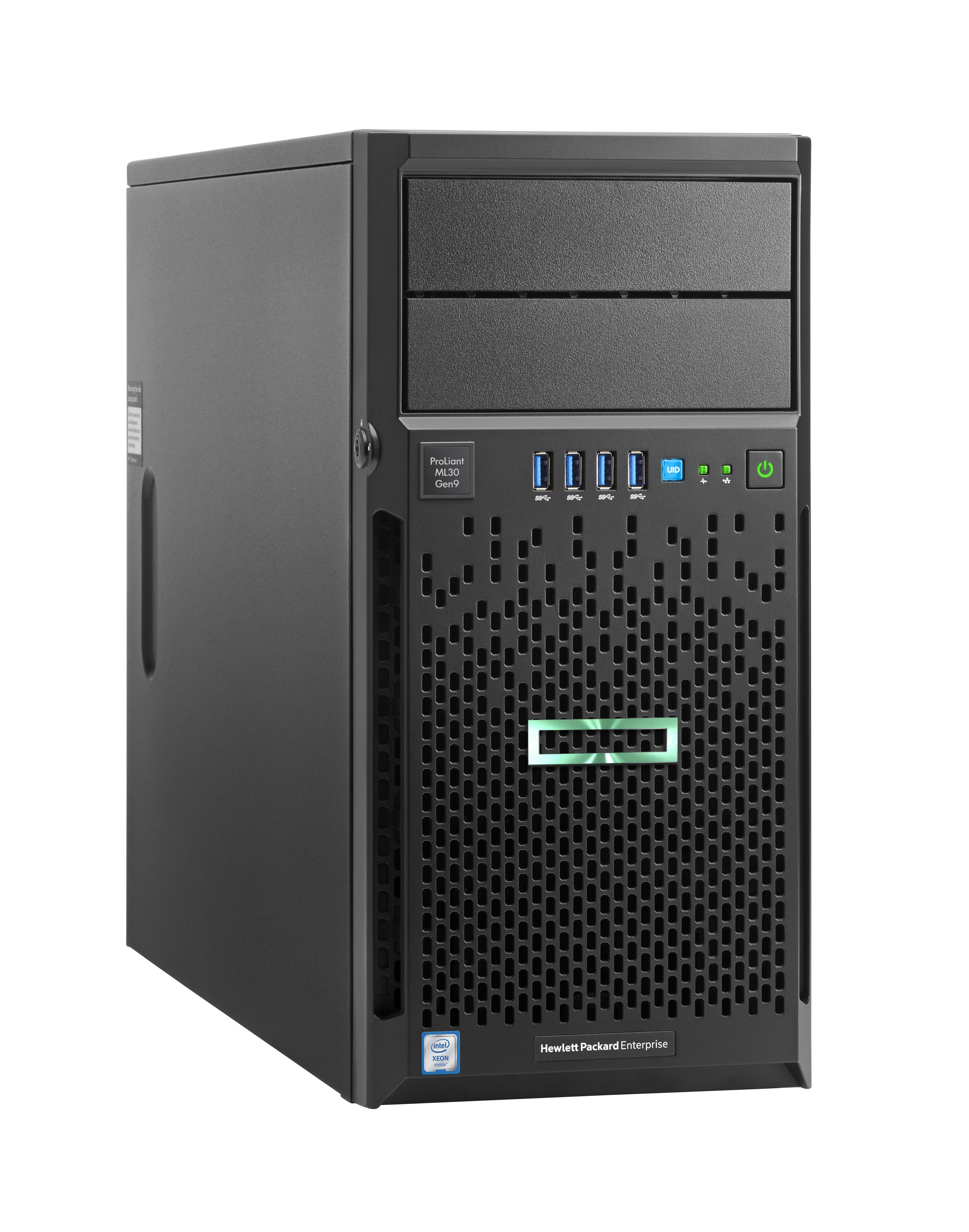 HPE ProLiant ML30 Gen9 Xeon E3-1220V6 3GHz 8GB RAM 1TB HDD