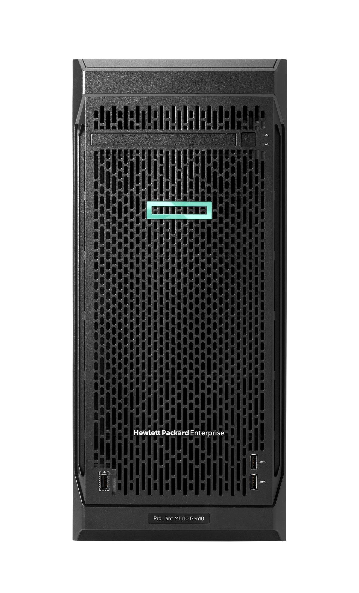 diapositiva 1 de 6,aumentar tamaño, servidor de rendimiento hpe proliant ml110 gen10 3106 1p 16gb-r s100i 4 lff hot-plug fuente de alimentación de 550 w