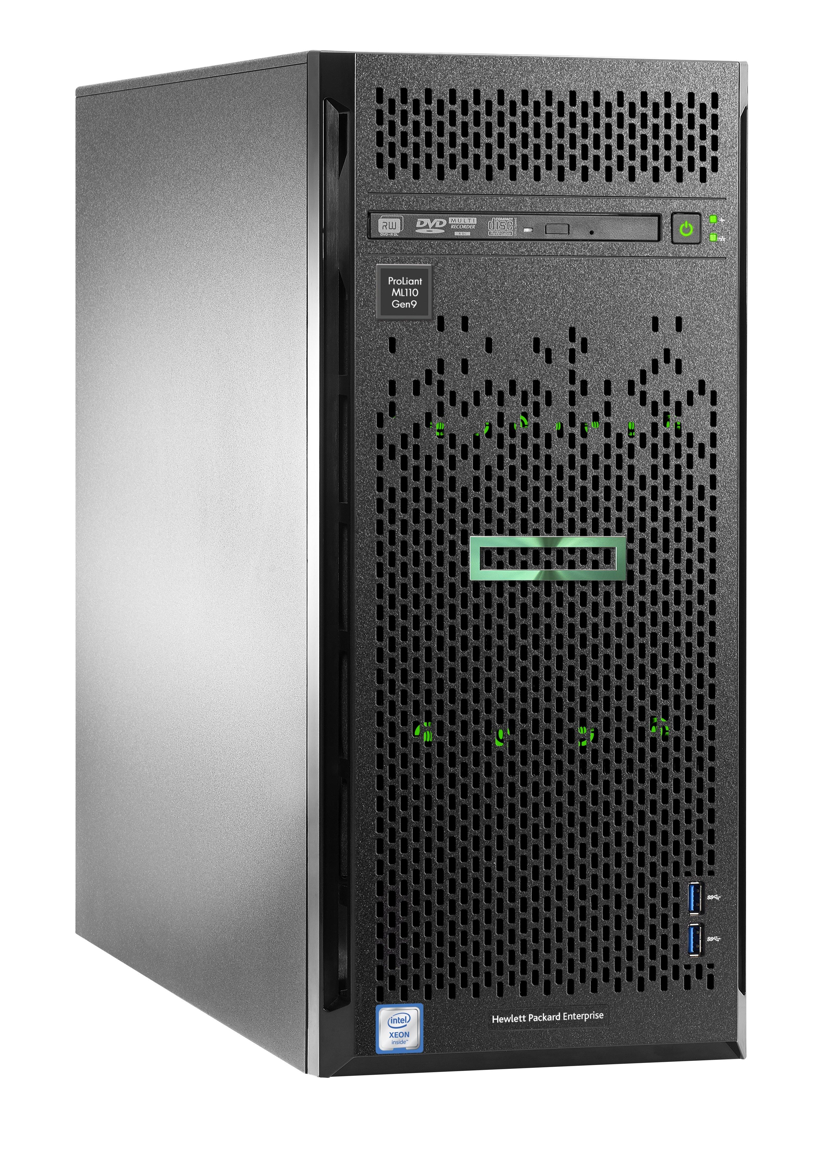 HPE ProLiant ML110 Gen9 - tower - Xeon E5-2603V4 1 7 GHz - 8 GB - 1 TB