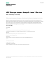 HPE Storage Impact Analysis Level 1 Service data sheet - US English (A4) (English)