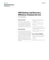 HPE Backup and Recovery Efficiency Analysis Service (English)