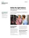 Strike the right balance with HPE Virtual Connect FlexFabric Flex-20 for HPE BladeSystem solution brief