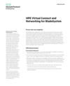HPE Virtual Connect and Networking for BladeSystem family data sheet (English)