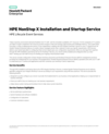 HPE NonStop X Installation and Startup Service (English)