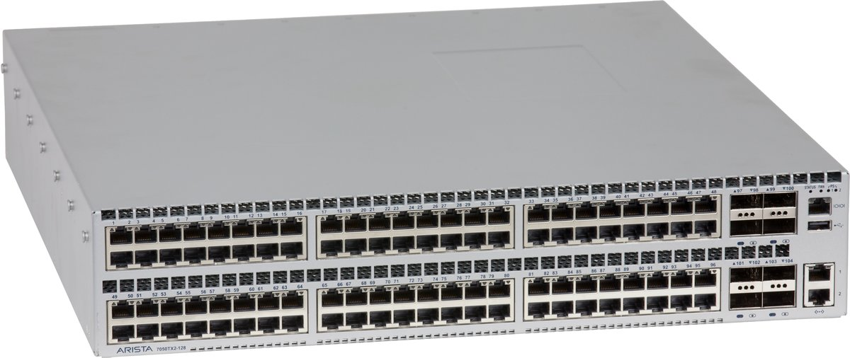 slide 1 of 1,show larger image, arista 7050x2 96xgt 8qsfp+ back-to-front ac switch