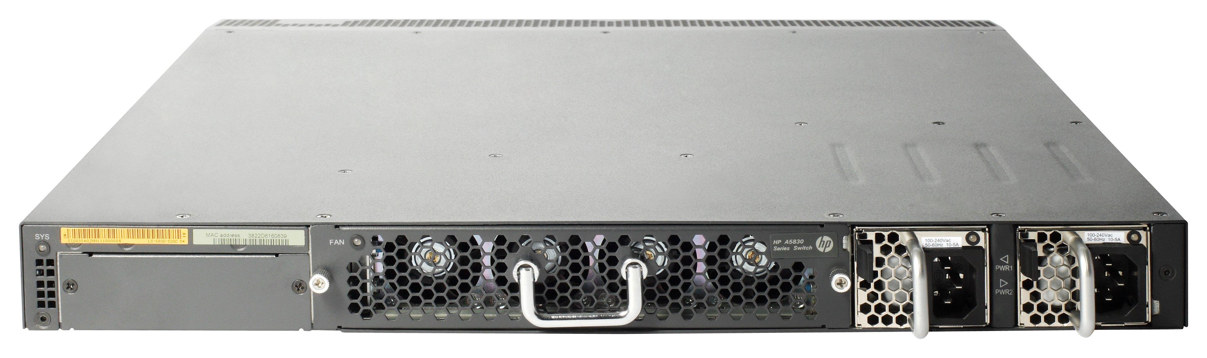 HPE JC691A - HPE Hewlett Packard Enterprise A 5830AF-48G L2 Black 1U