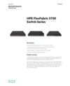 HPE FlexFabric 5700 Switch Series data sheet