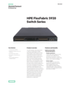 HPE FlexFabric 5920 Switch Series data sheet