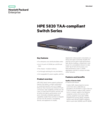 HPE 5820 TAA-compliant Switch Series data sheet