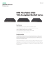 HPE FlexFabric 5700 TAA-Compliant Switch Series data sheet