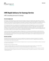 HPE Rapid Advisory for Synergy Service data sheet