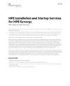 HPE Installation and Startup Services for HPE Synergy data sheet