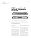 HPE IP Console Switch G2 and Server Console Switch G2 with VM data sheet