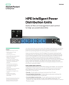 HPE Intelligent Power Distribution Units with State-of-the-art management and control to help you avoid downtime data sheet