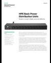 HPE Basic Power Distribution Units data sheet