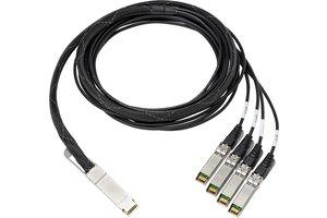 Měděný kabel HPS 100Gb QSFP28 až 4x25Gb SFP28 3m s přímým připojením