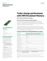 Turbo-charge performance with HPE Persistent Memory data sheet